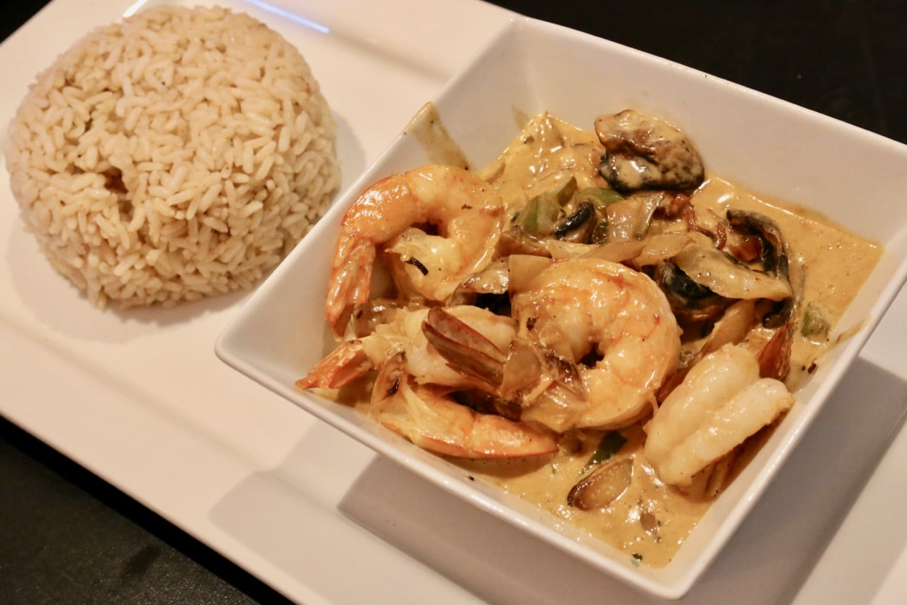 Creamy Shrimp is sautéed in Madera wine cream sauce.
