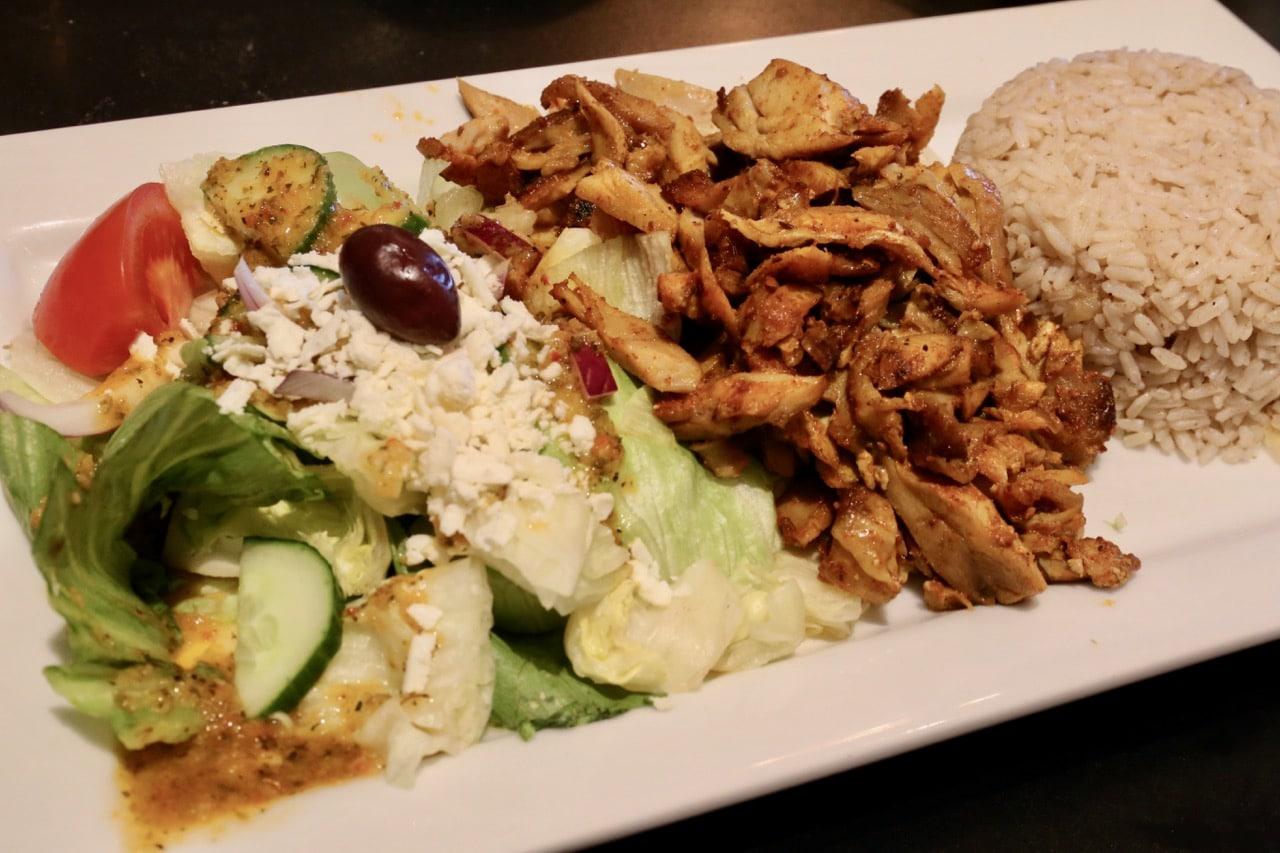 Agabi Oakville's signature entree is Chicken Shawarma.