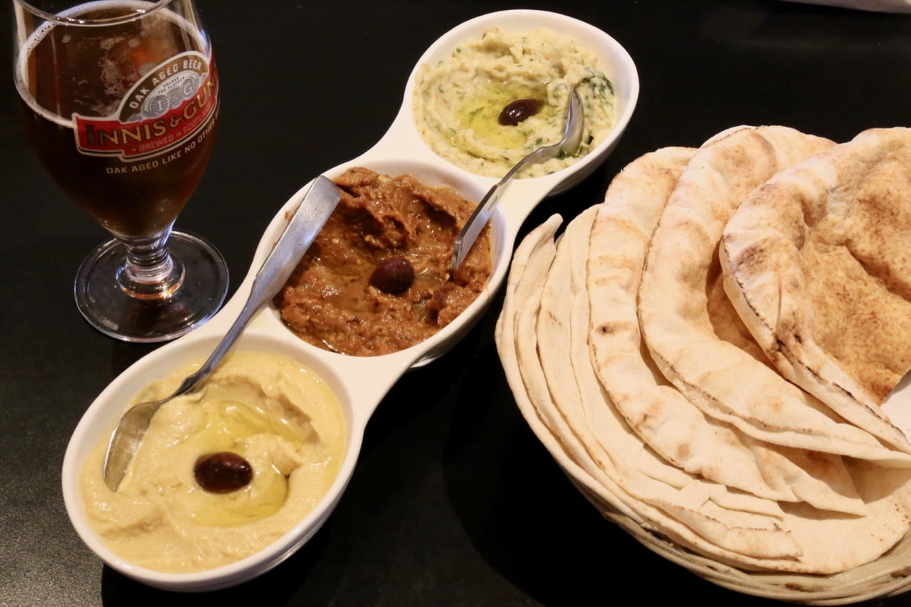 Agabi Oakville's signature starter is a trilogy of Mediterranean dips.