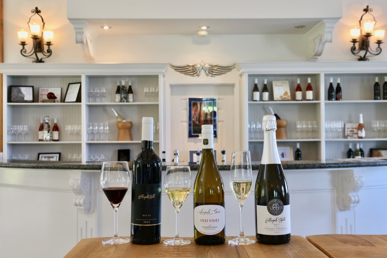 Beamsville Wineries: Enjoy a flight at Angels Gate Winery's tasting room.