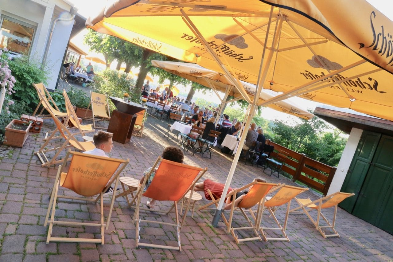 Kades Restaurant is one of the best patio's to enjoy the sunset in Potsdam.