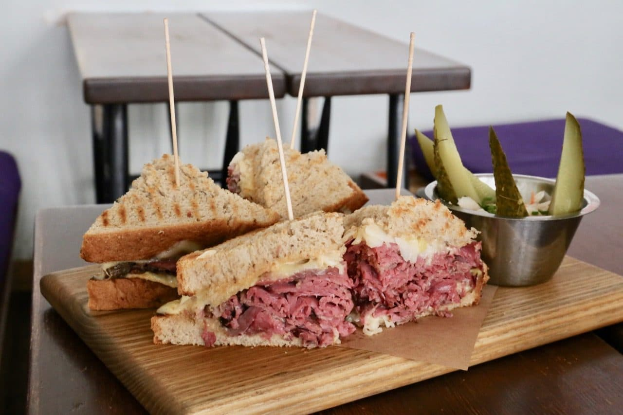 Berlin Food Tour: Mogg serves the city's best Reuben sandwich.