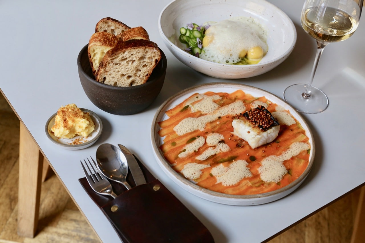 The kitchen at Mrs. Robinson's serves some of the most beautiful Berlin dishes.