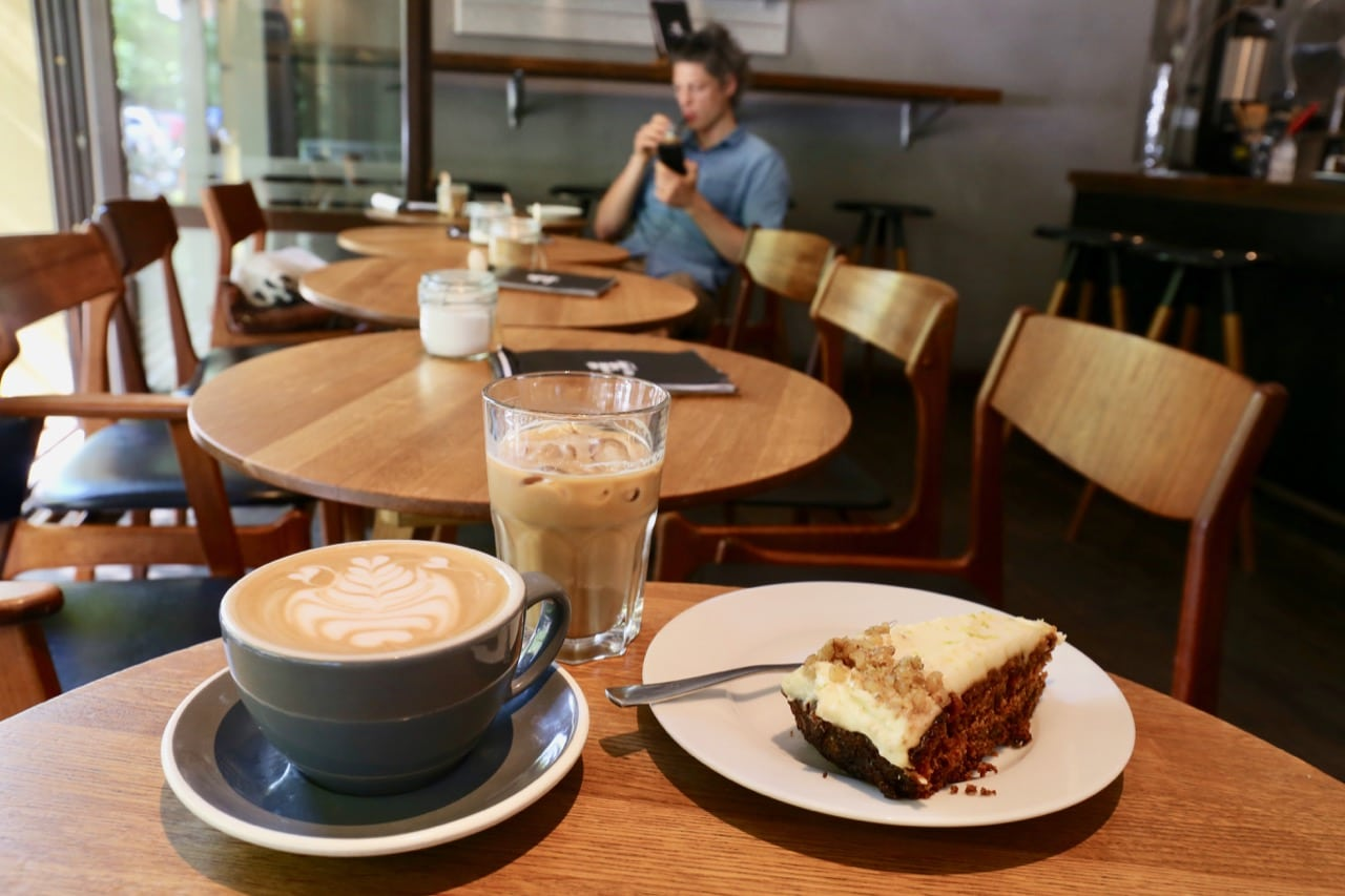 Enjoy a slice of German cake and quality coffee at No Fire No Glory.