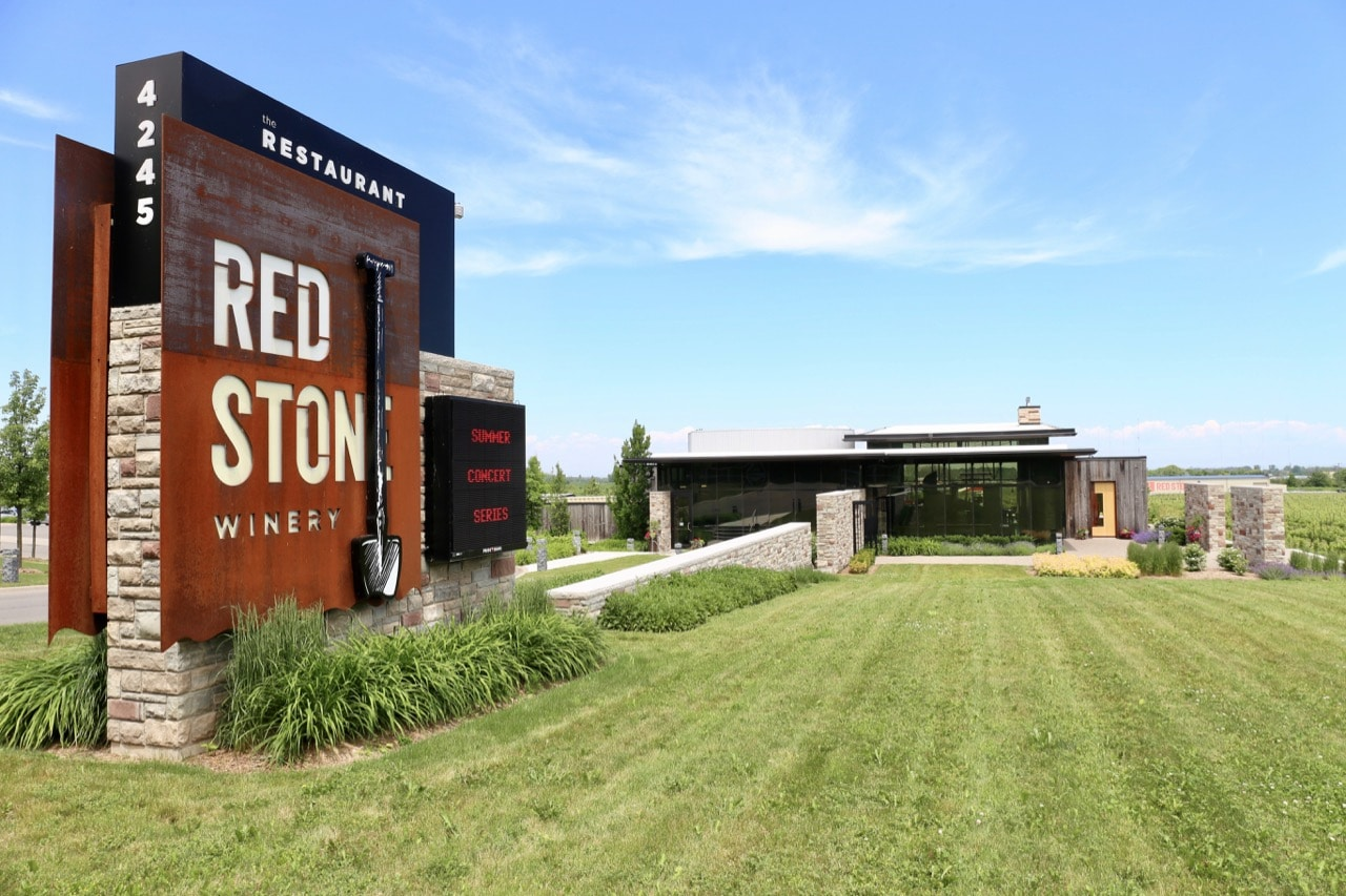Red Stone Winery features a tasting room, retail shop, restaurant and outdoor terrace.