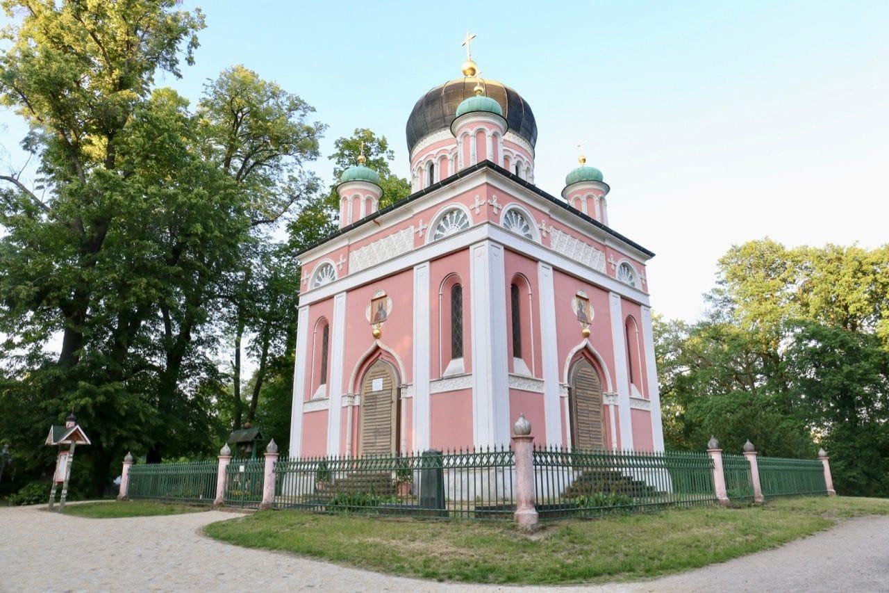 Alexander Nevsky Russian Church in Potsdam's Russian Quarter.