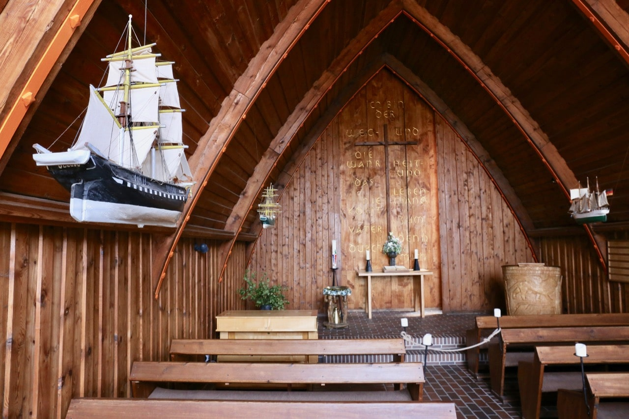 Enjoy an intimate service at a historic church when visiting beaches in Germany.