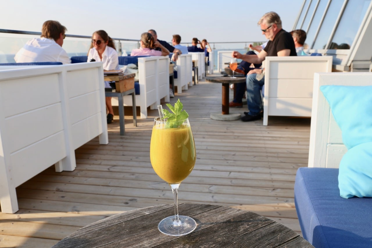 The hotel's rooftop bar offers Ahrenshoop's best craft cocktail menu.
