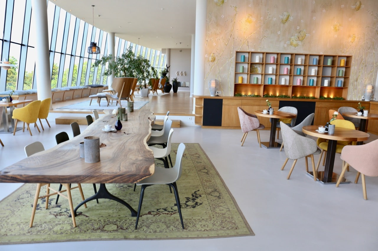 The Grand Ahrenshoop's public spaces are Baltic Sea modern chic.