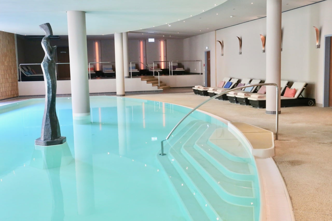 Enjoy a refreshing swim after sweating in the sauna at The Grand Ahrenshoop's indoor pool.