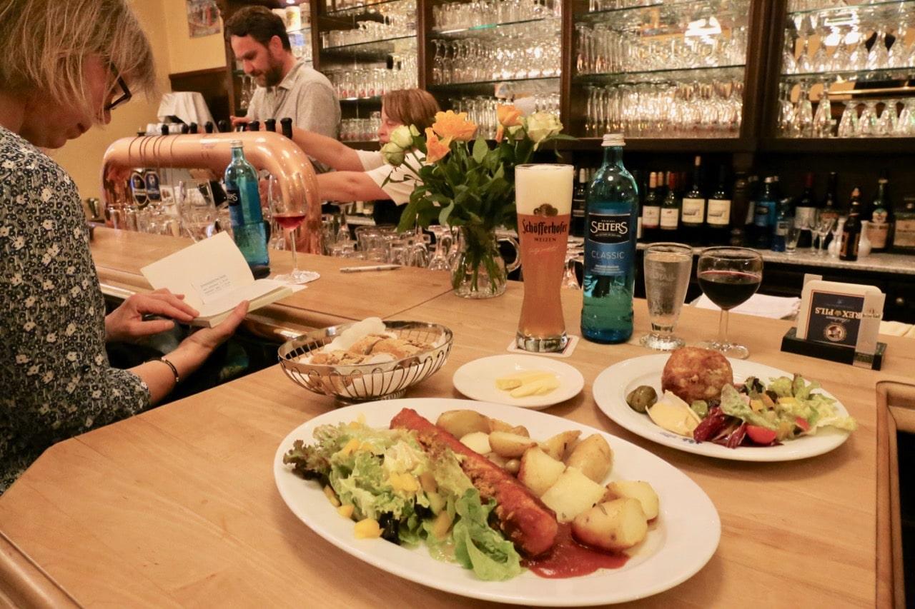 Zum Fliegenden Hollander is a popular German restaurant in the Dutch Quarter.