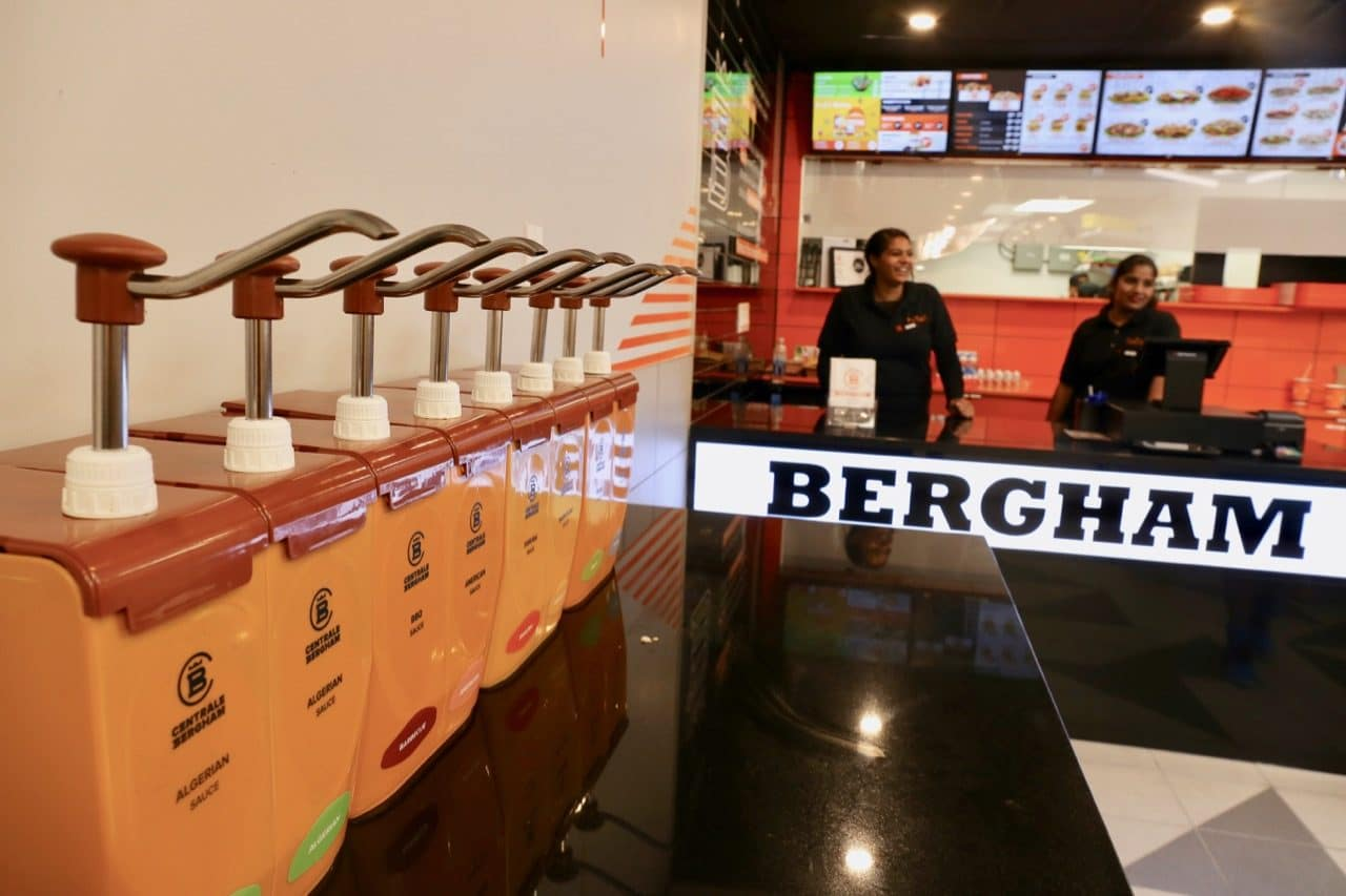 Centrale Bergham's menu is famous for its selection of self-serve sauces.