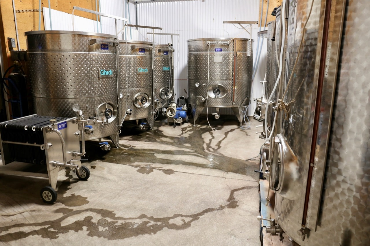 Family-run Cornerstone Estate Winery features a tiny wine boutique and offers tours of its production facility.