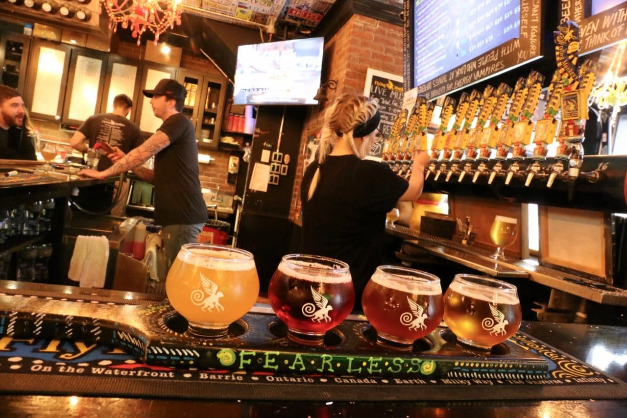 Sample a selection of four Flying Monkeys Brewery beers by ordering a flight at the bar.