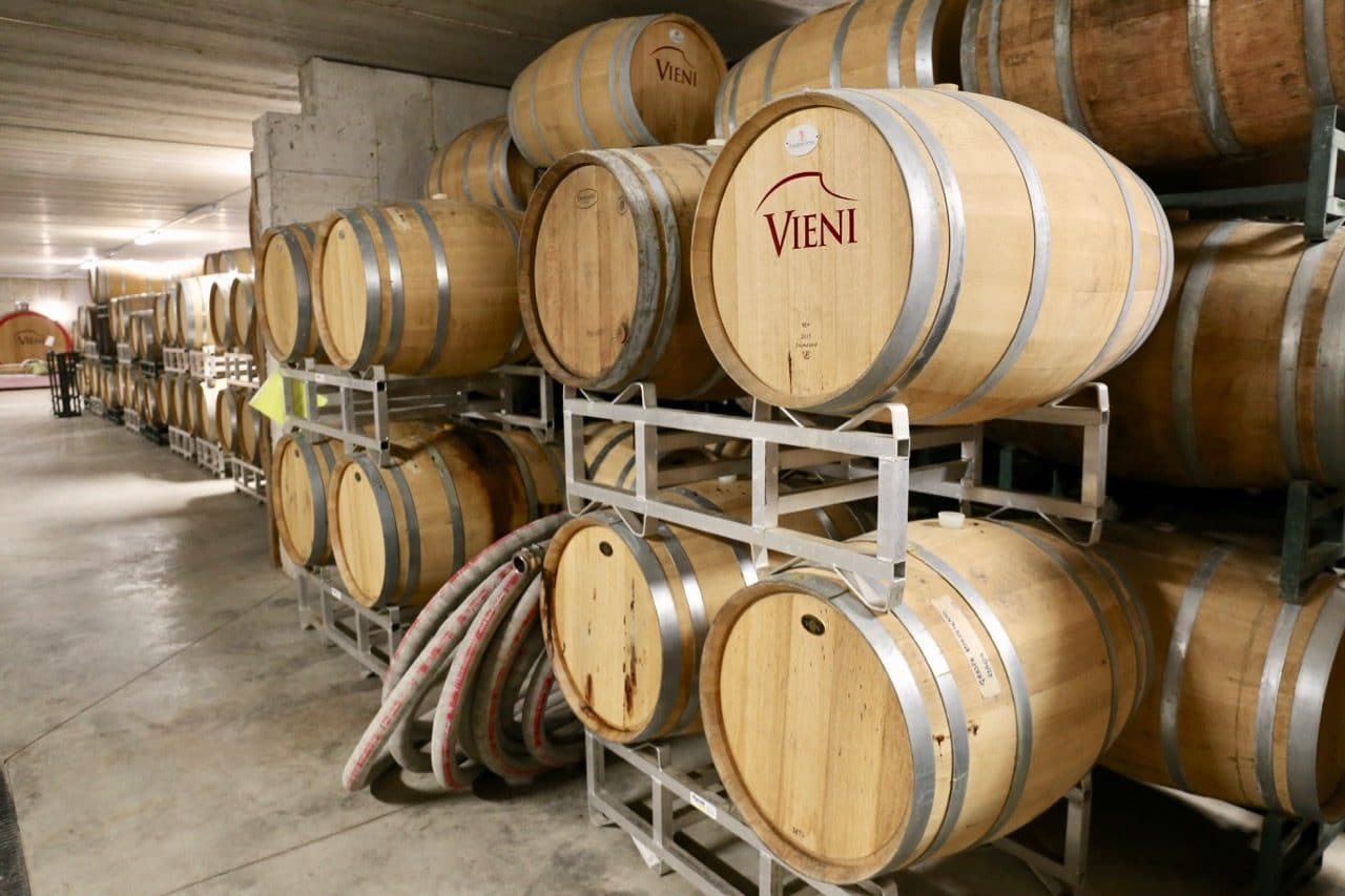 Beamsville Wineries: In 2019 Vieni Estates launched a new wine cellar, tasting room and event space for weddings.
