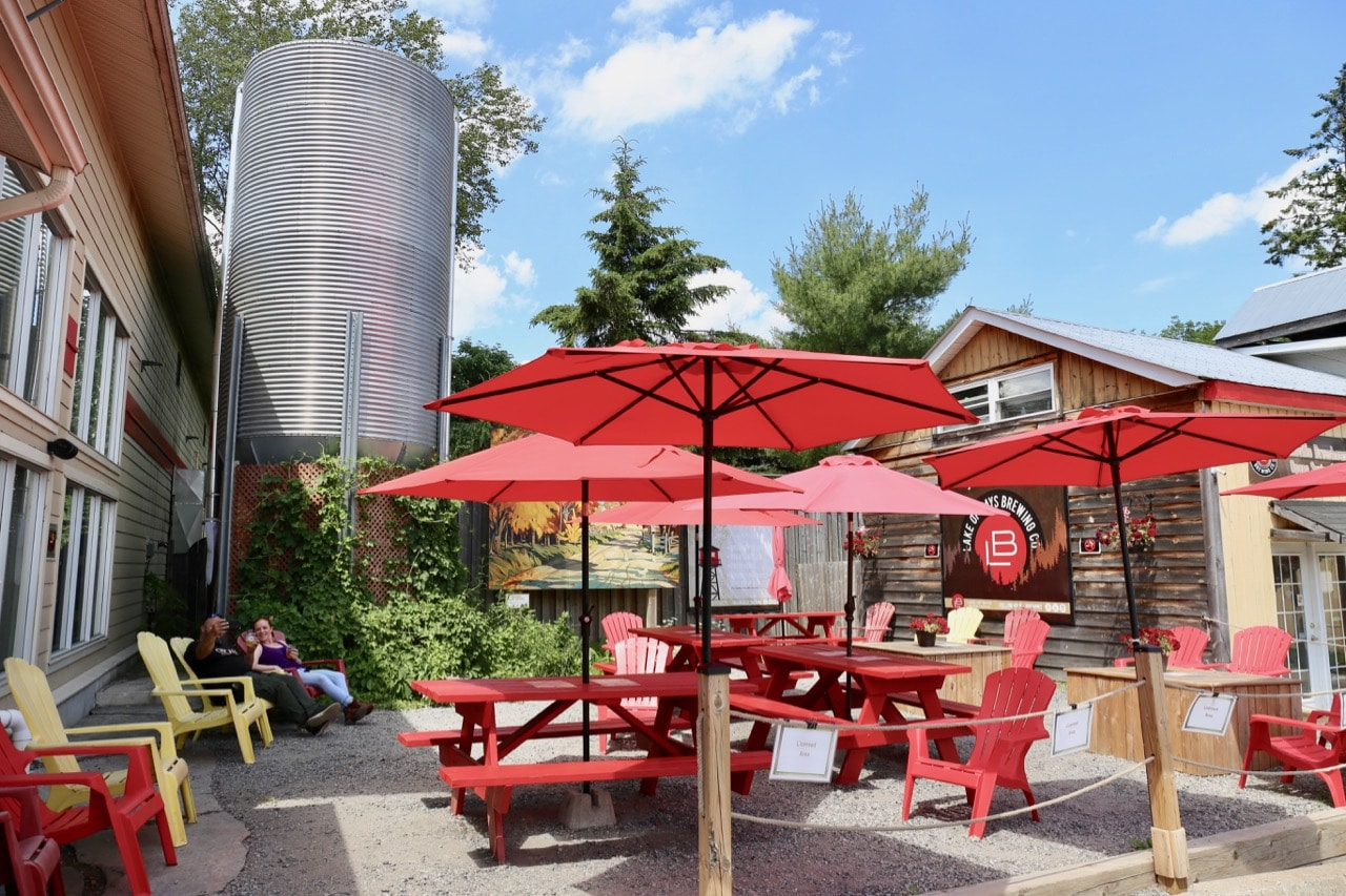 Lake of Bays Brewing offers a licensed sunny patio in summer.