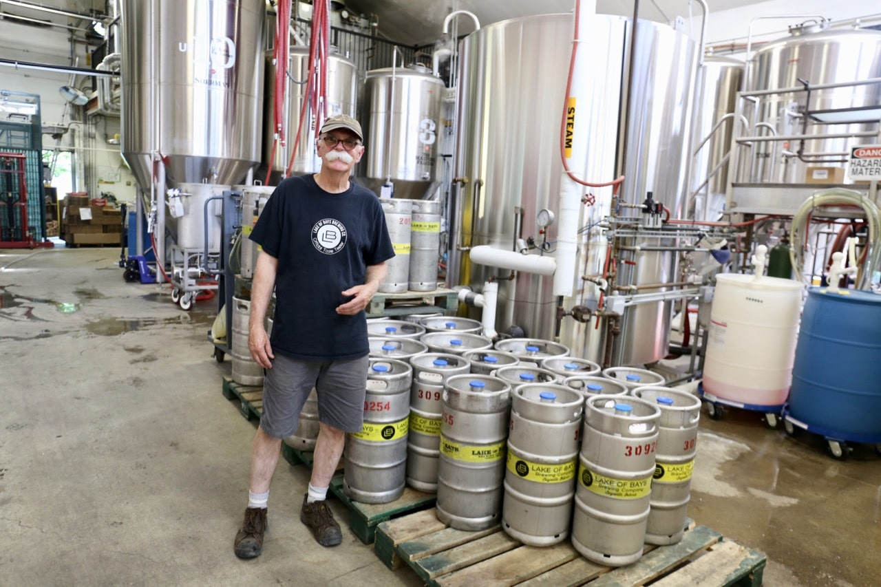 Brewmaster Dan Unkerskov offers a tour of Lake of Bays Brewing.