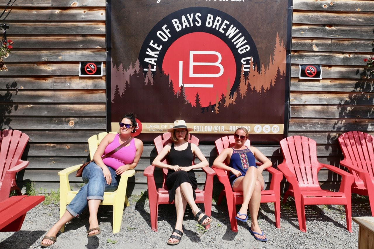 Relax on Muskoka chairs on the brewery's outdoor patio.