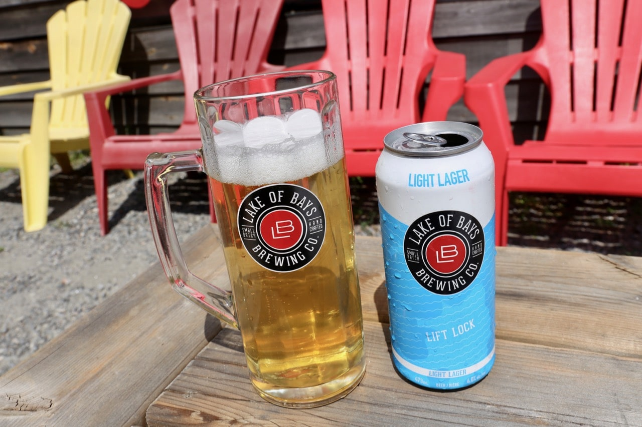 Lake of Bays Brewing Lift Lock Light Lager.