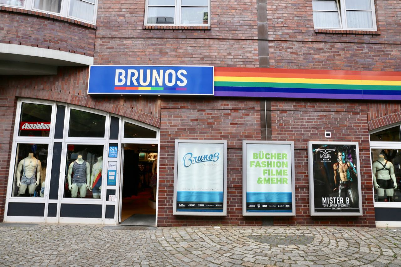 Brunos is a popular gay fashion boutique in the heart of Hamburg's LGBT neighbourhood.