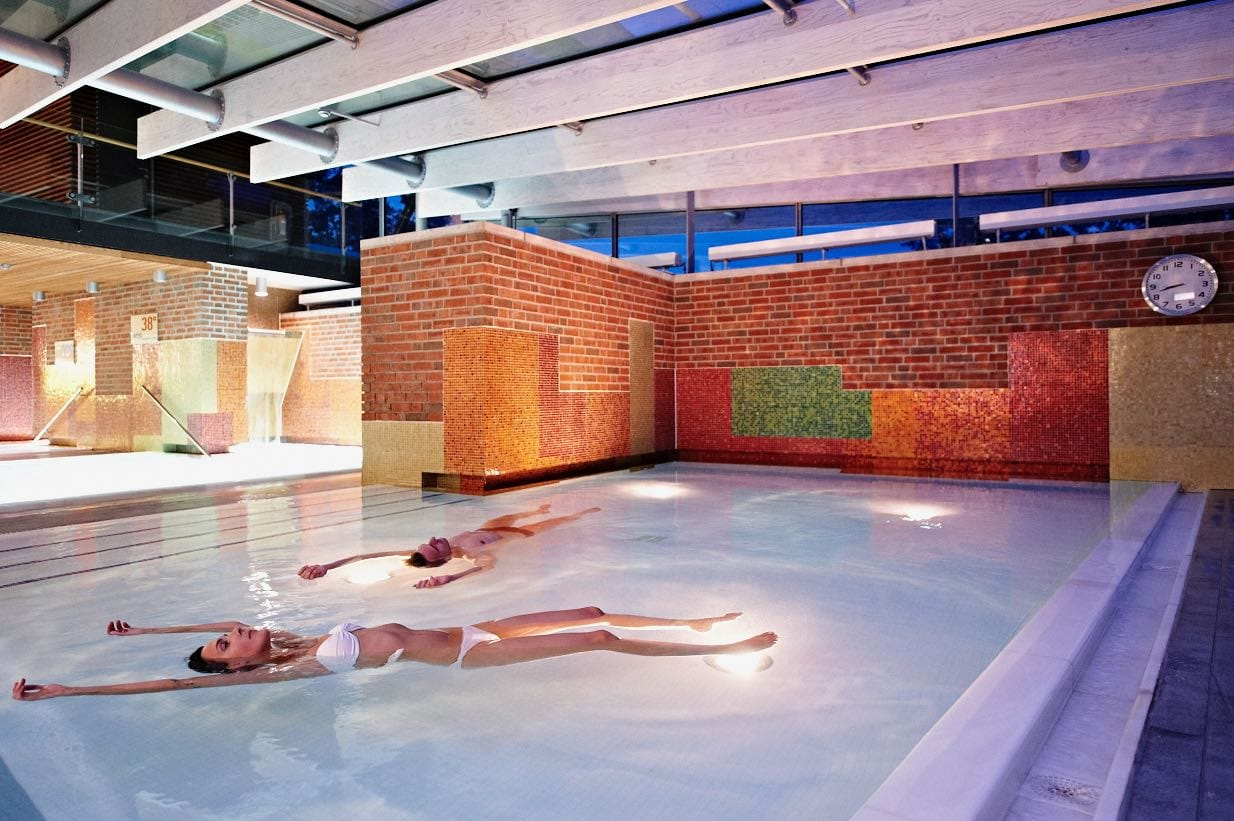 Enjoy one of the many thermal pools and baths at Spreewald Therme.