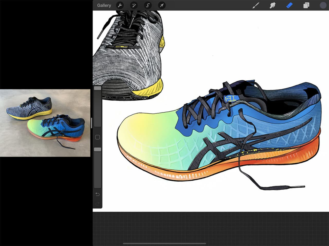 How to draw shoes is only the first of many things you can learn by drawing on iPad Pro.