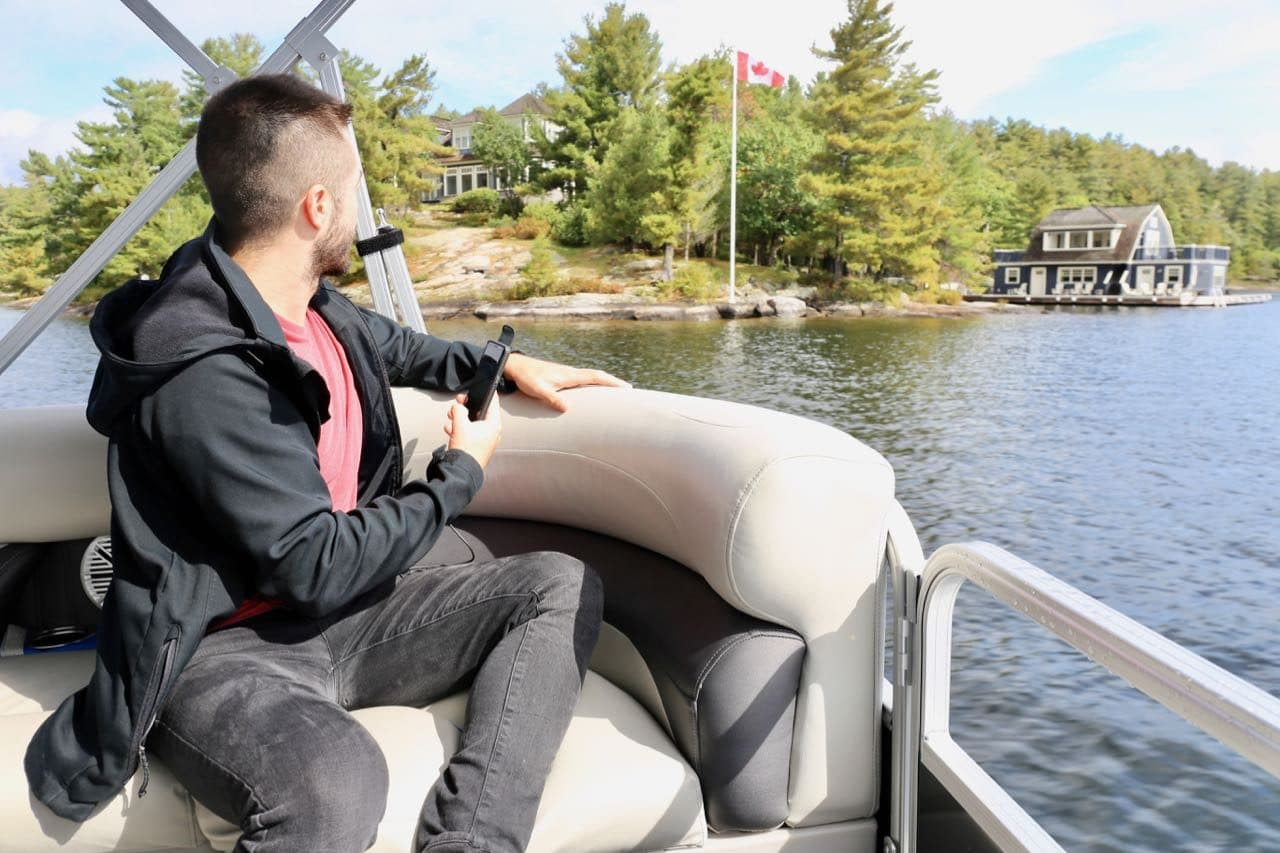 Learn about the history of Lake Rosseau and gawk at Muskoka's poshest cottage's on a boat tour.