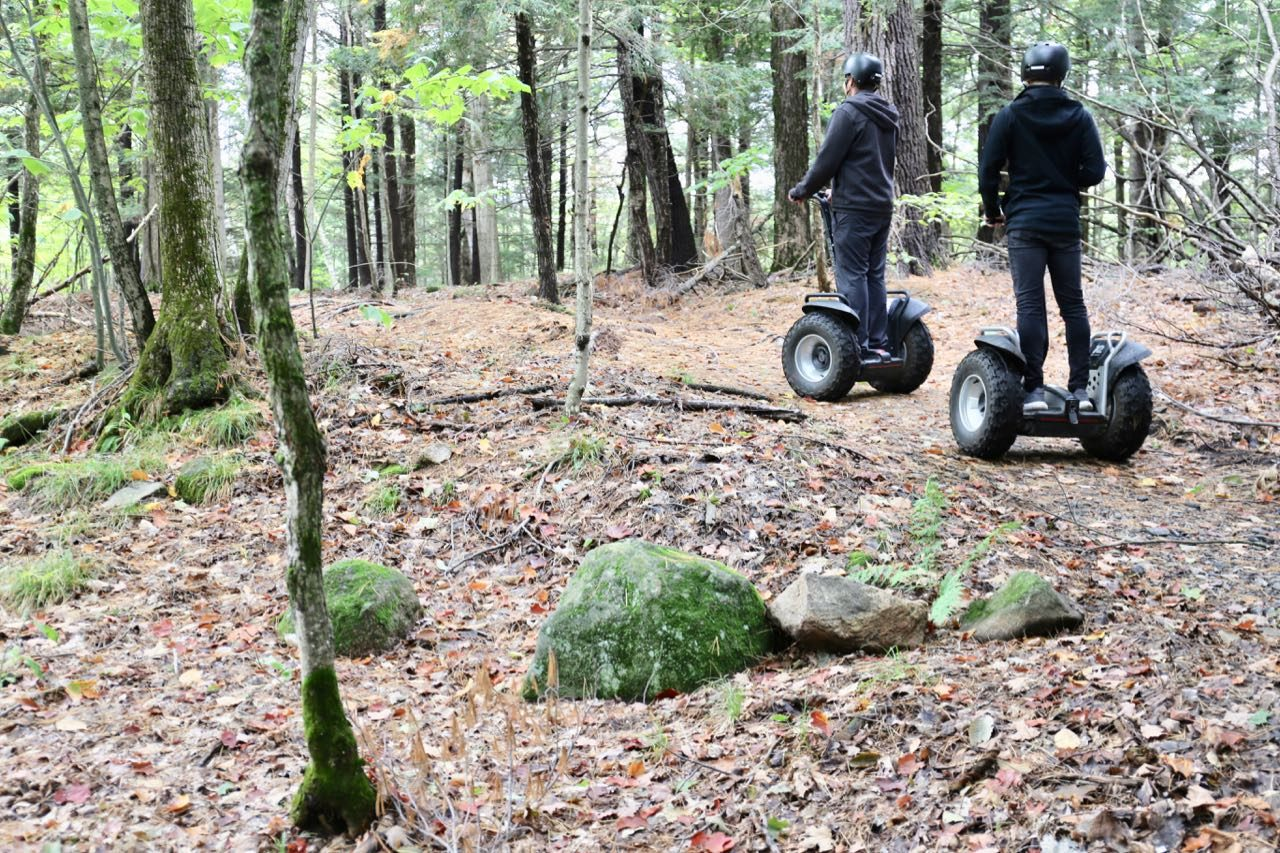Our favourite activity at JW Marriott Muskoka is the segway tour, which takes guests through the woods.