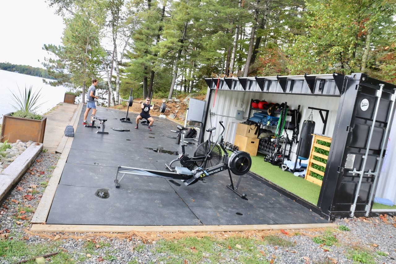 Enjoy circuit training or yoga class at JW Marriott Muskoka's outdoor Fitness Pad.