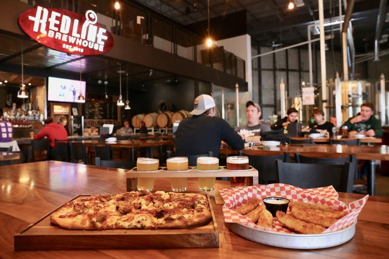 Redline Brewhouse in Barrie features a retail store, restaurant and brewhouse.