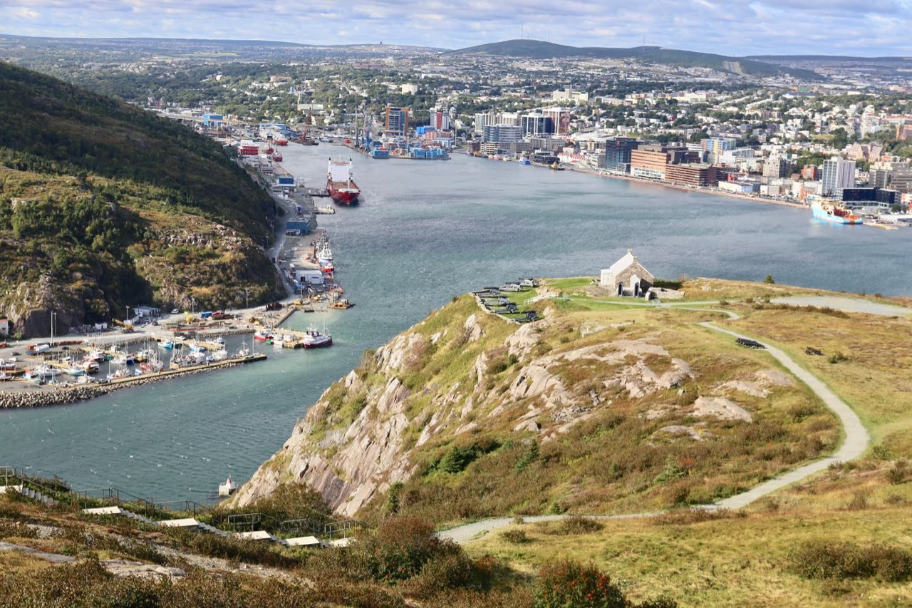 The best views of the harbour can be enjoyed after hiking to Signal Hill.