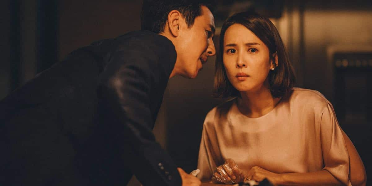 A wealthy couple in Seoul are victims of poor con artists in the Parasite film.