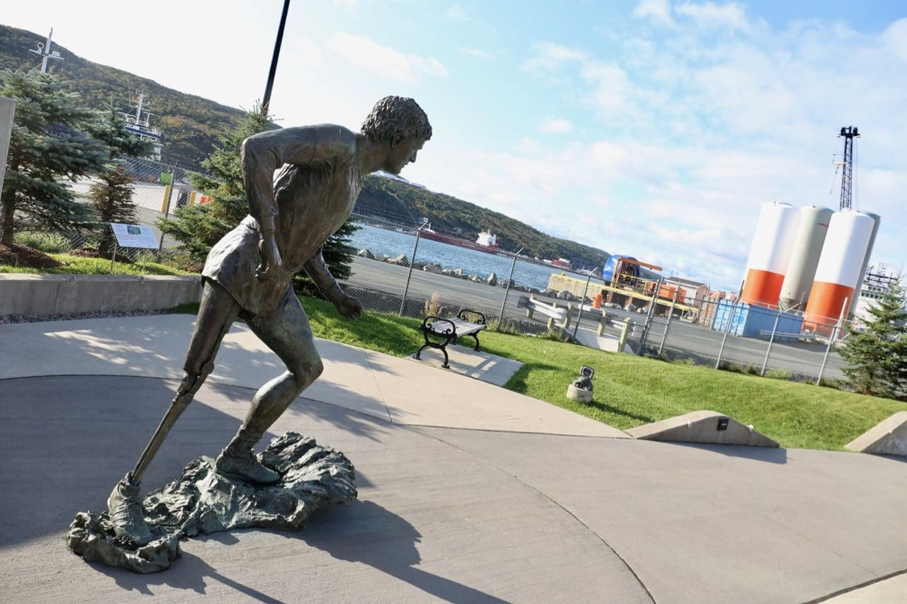 Pay homage to a Canadian hero at the Terry Fox Memorial.