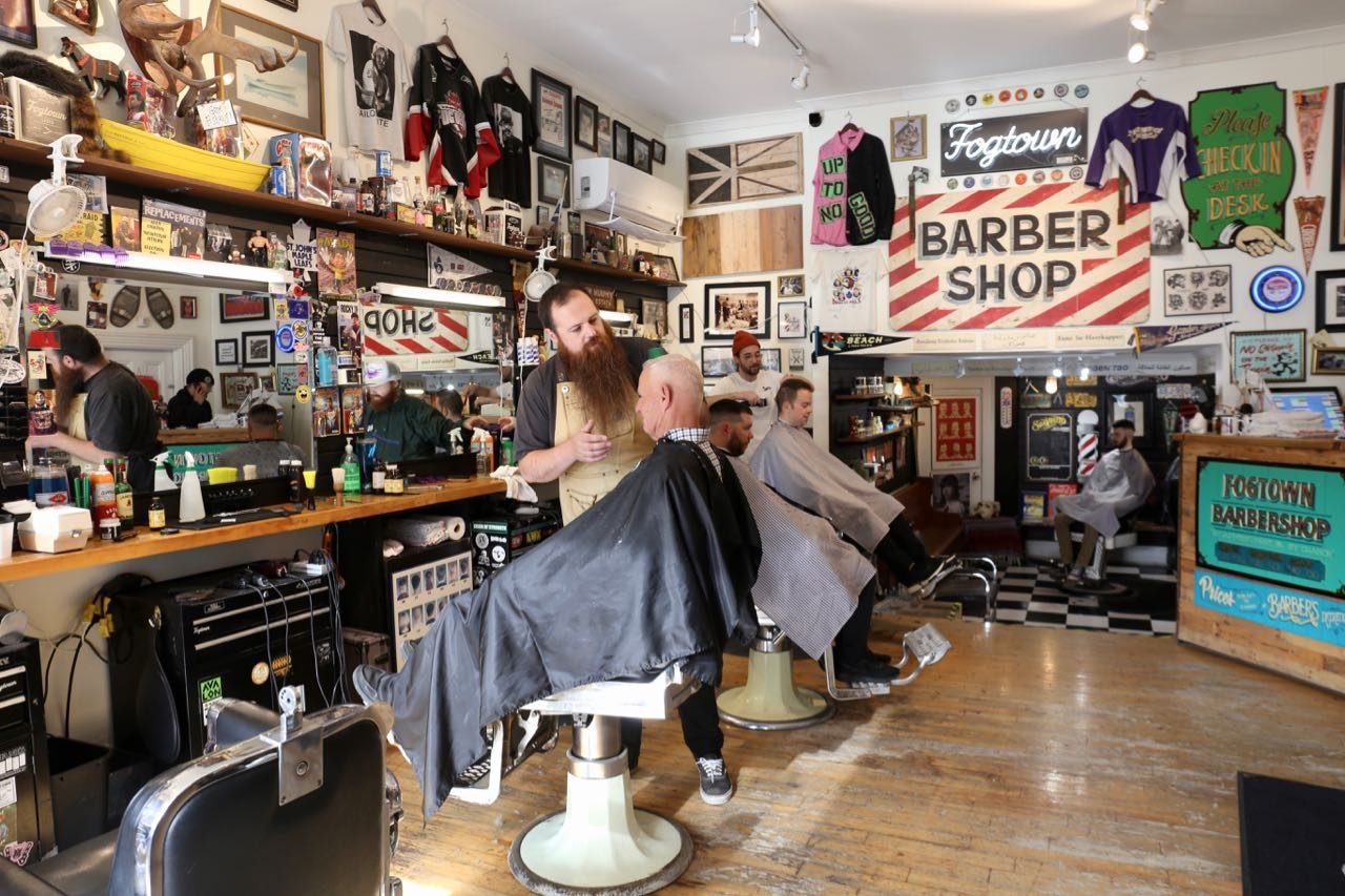 Get a shave and fade at Fogtown Barber in downtown St. John's.
