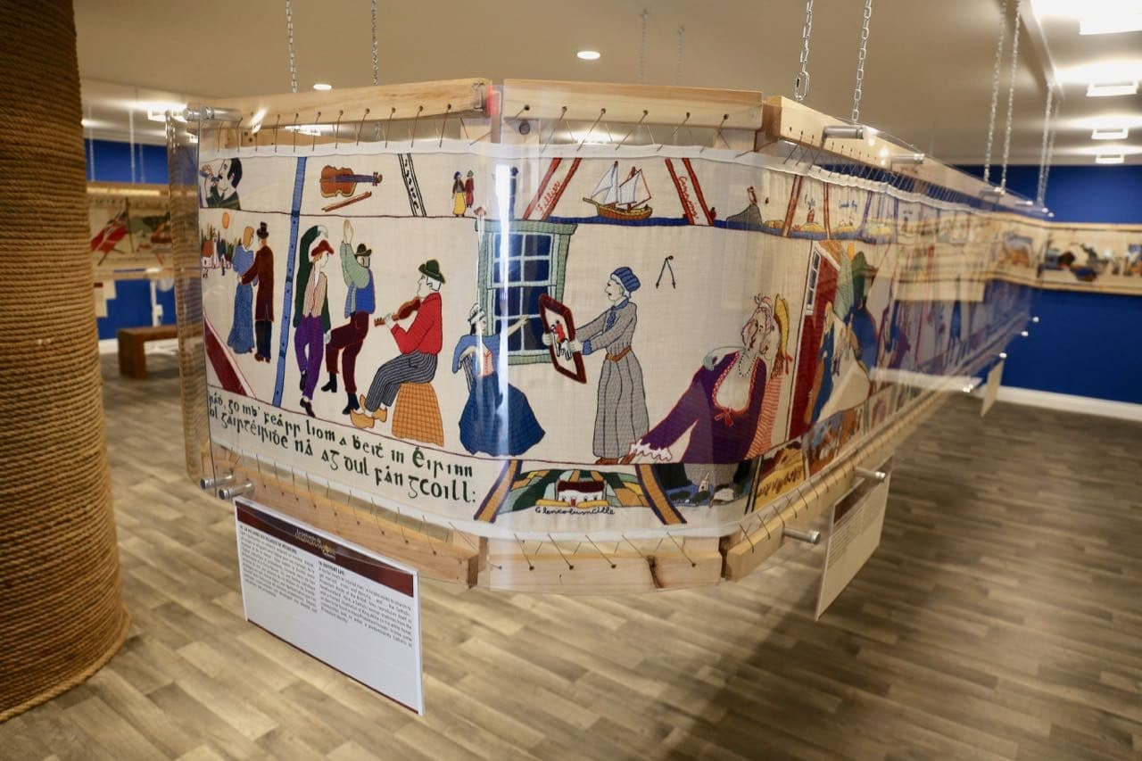 Art lovers will enjoy visiting the French Shore Interpretation Centre's famous tapestry in Conche.