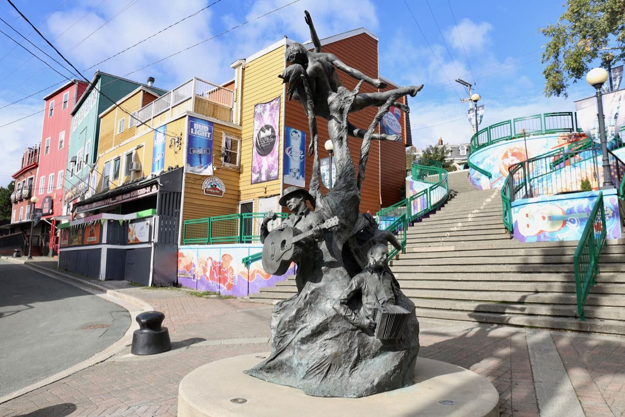 """A Time Statue"" in the heart of St. John's bar district on George Street."