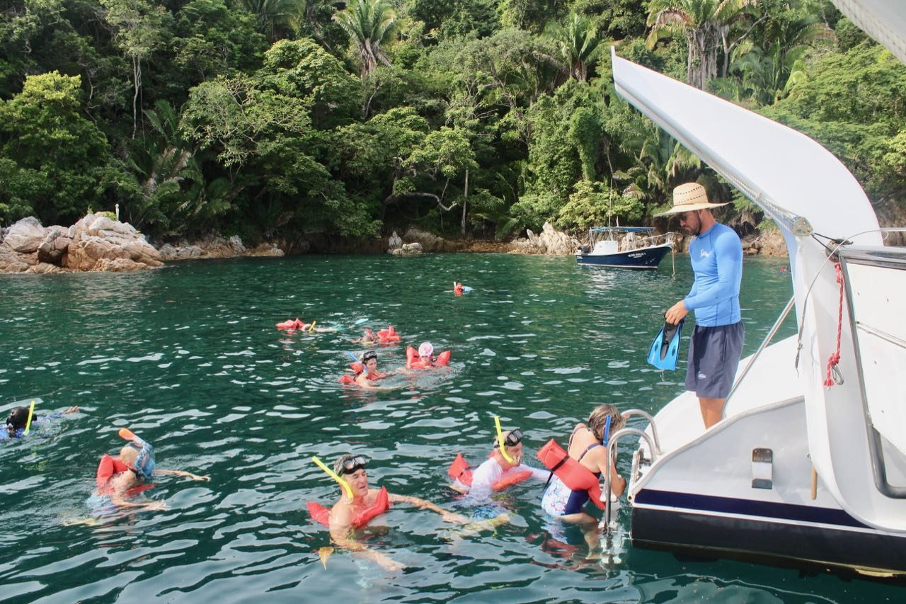 Enjoy a gay Puerto Vallarta Snorkel Cruise.