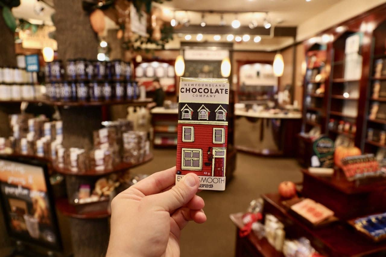 Enjoy a sweet snack at Newfoundland Chocolate Company.