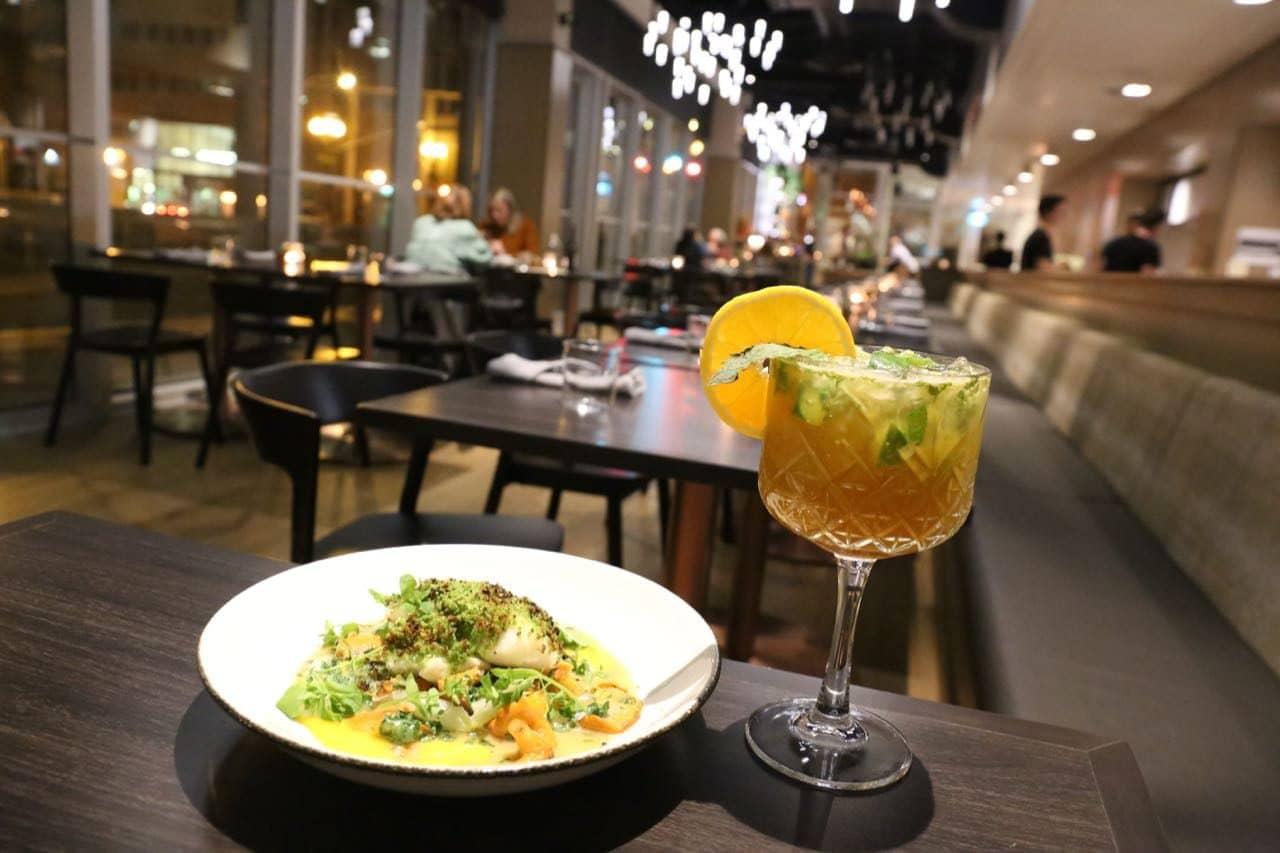 Terre Restaurant serves craft cocktails and succulent seafood at Alt Hotel St. John's.