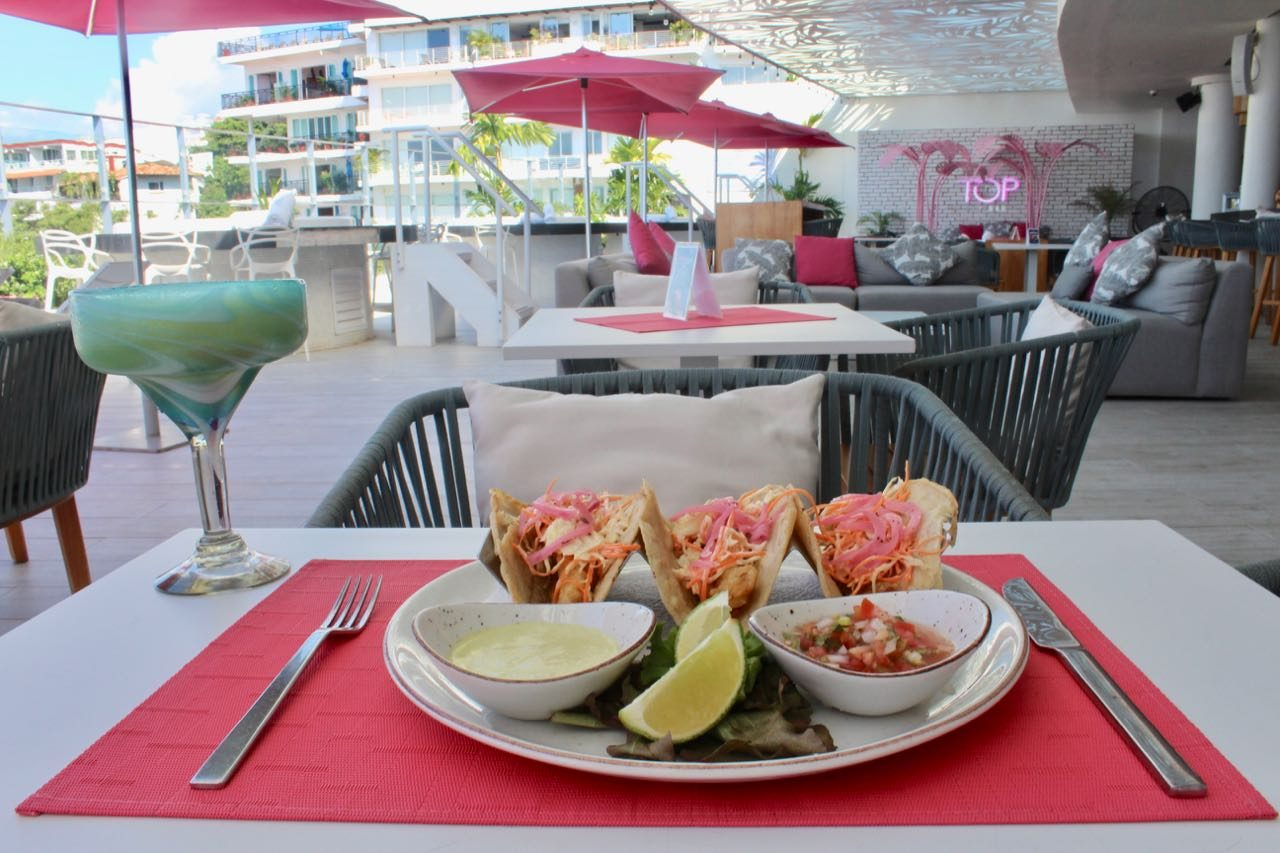 The Top Sky Bar at Almar Resort serves the best gay tacos in Puerto Vallarta.
