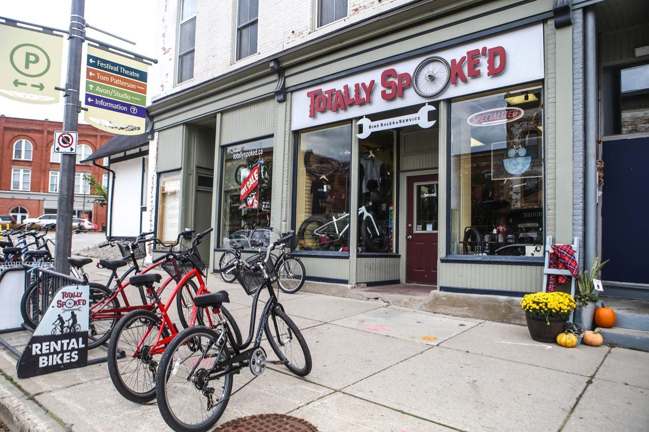 Explore Stratford's nature trails by renting a bike at Totally Spoke'd.