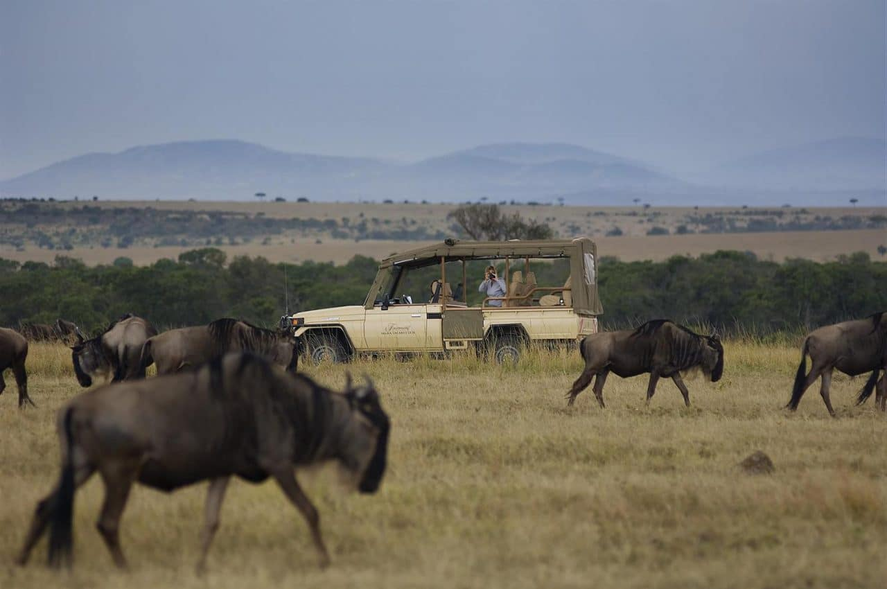 Get up close and personal with African wildlife on your honeymoon in Kenya at Fairmont Mara Safari Club.