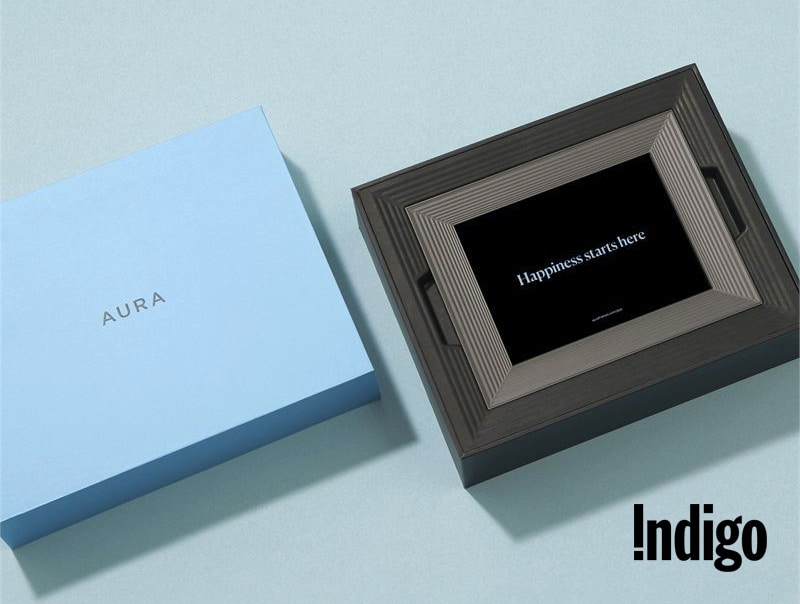 Chapters Indio's signature Aura Digital Photo Frame.