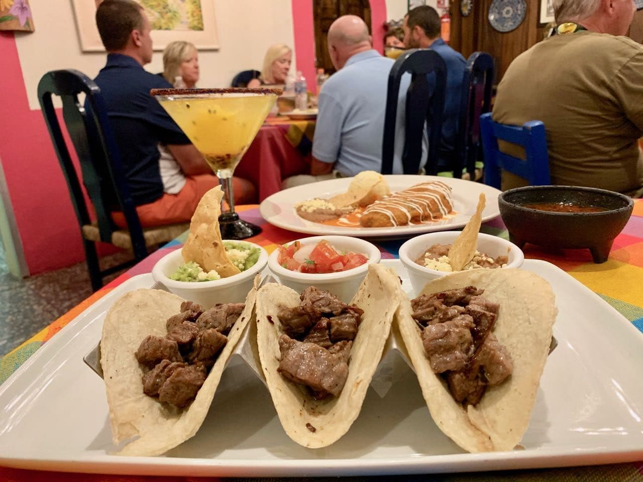 Steak tacos at Gaby's Restaurant in Puerto Vallarta.
