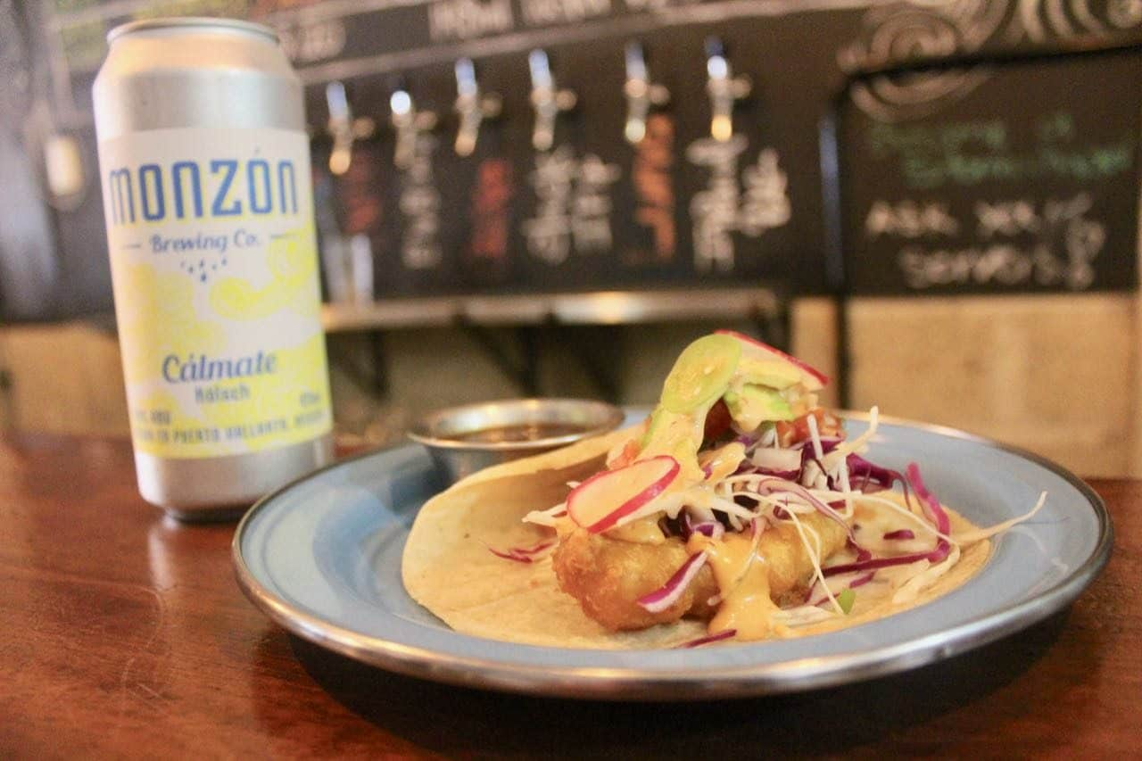 Monzon serves the best tacos in Puerto Vallarta for craft beer fans.