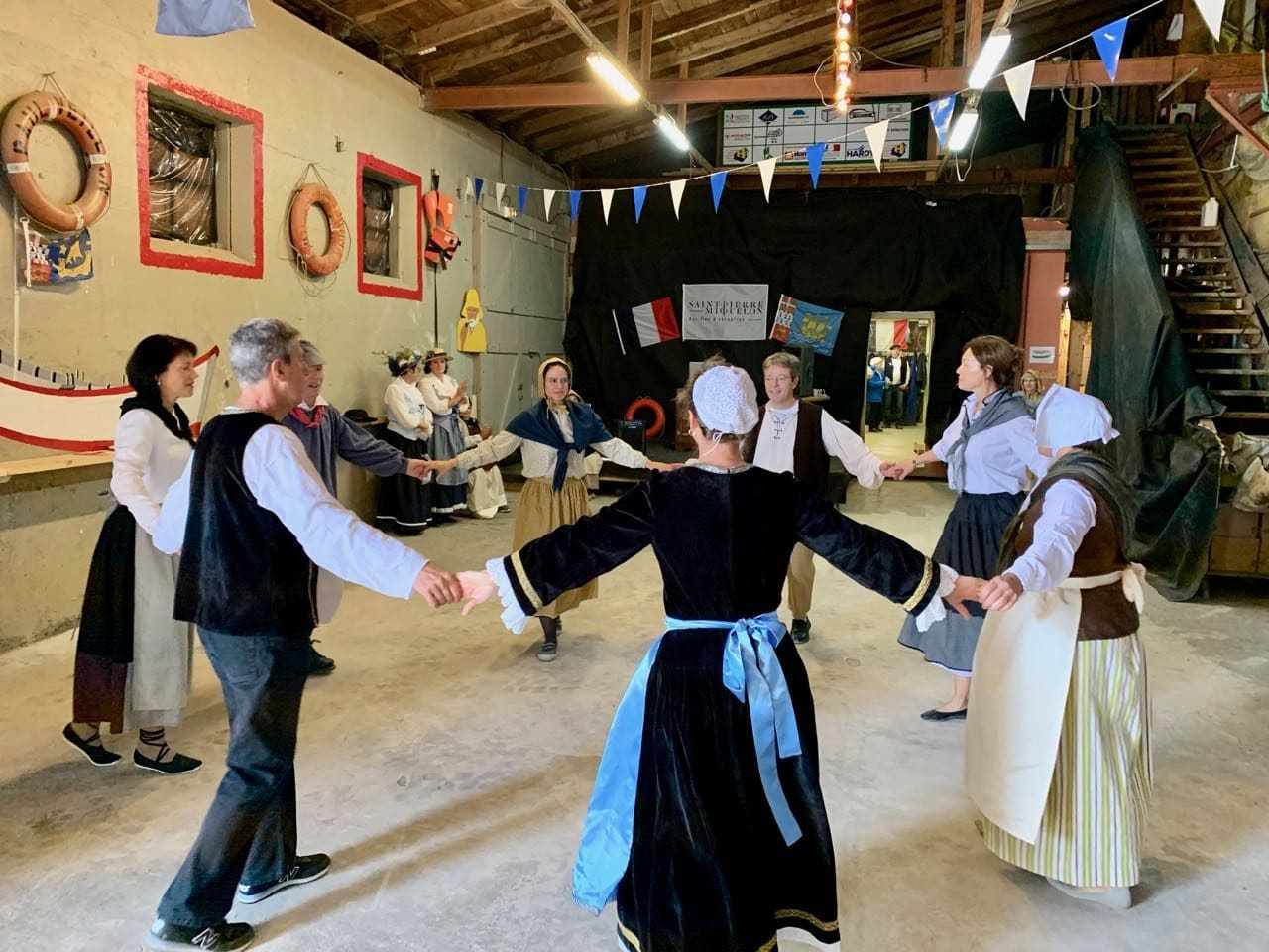 Enjoy a French folk dance in Saint-Pierre and Miquelon.