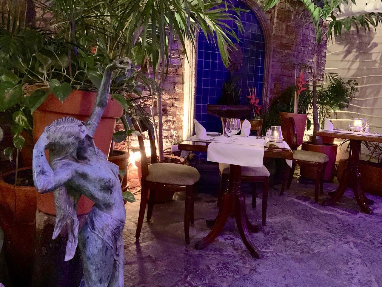 Trio serves Mediterranean cuisine in a romantic dining room.