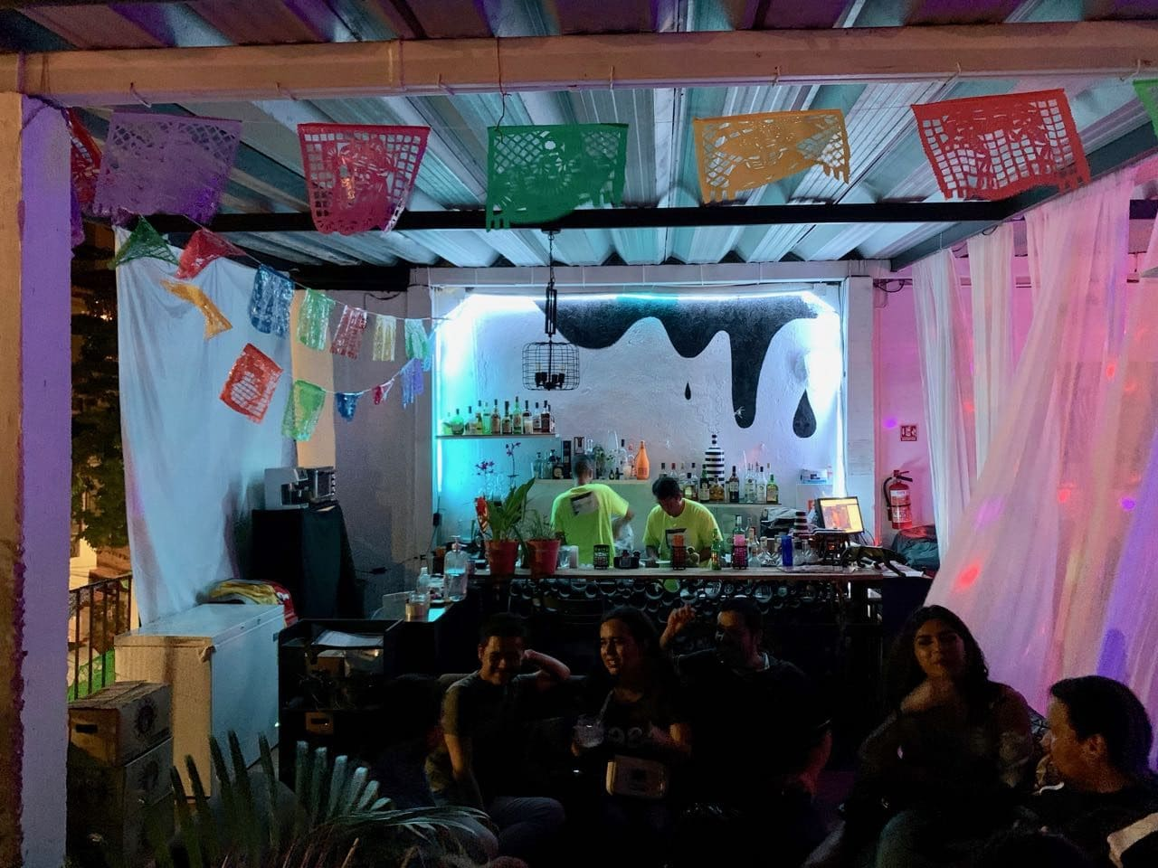 Gay Bars Puerto Vallarta: Velas Lounge offers comfy couches on a second floor rooftop.
