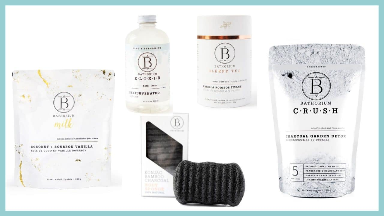 Bathorium offers Canadian-made beauty products for the bath.