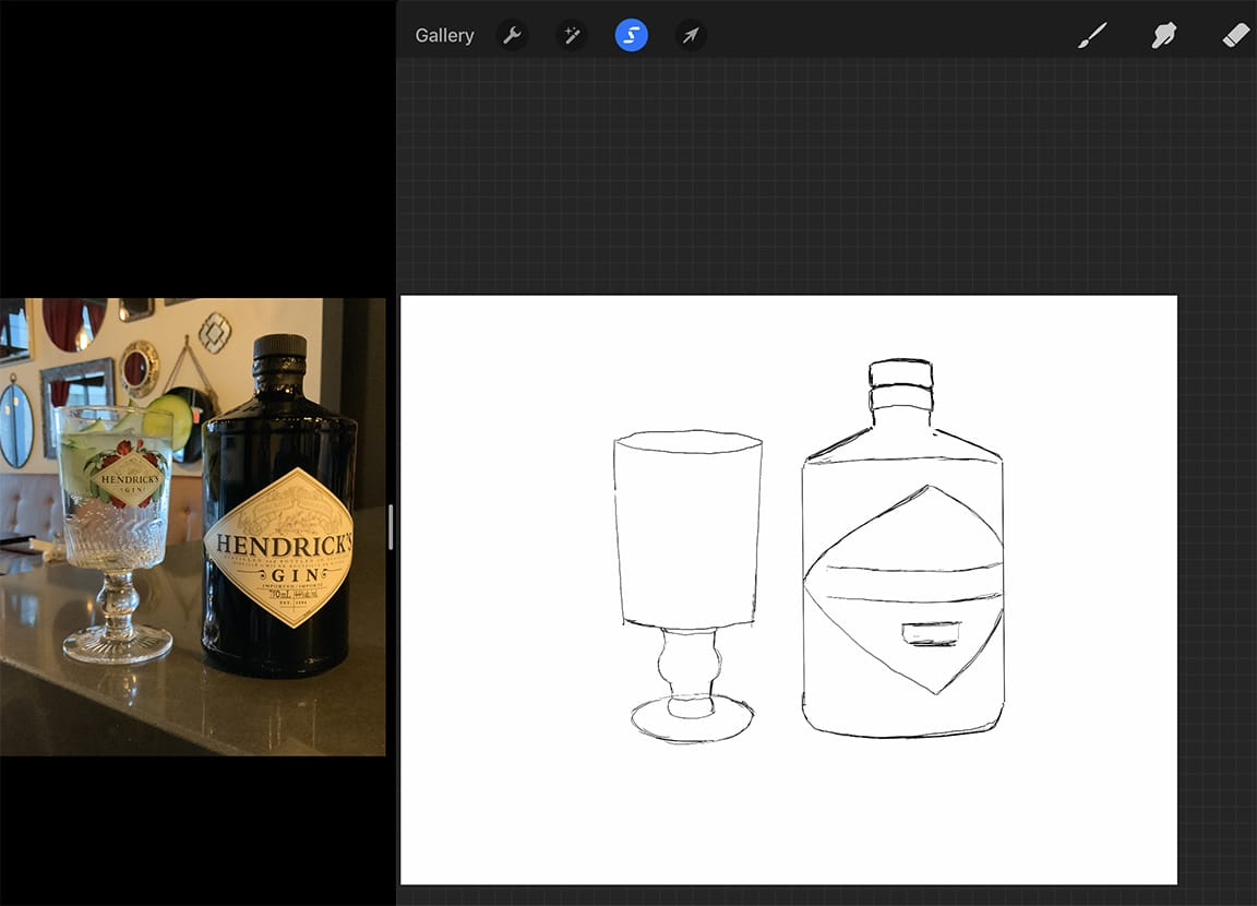 Procreate tutorial: iPad Pro makes setting up a convenient split screen for working easy.